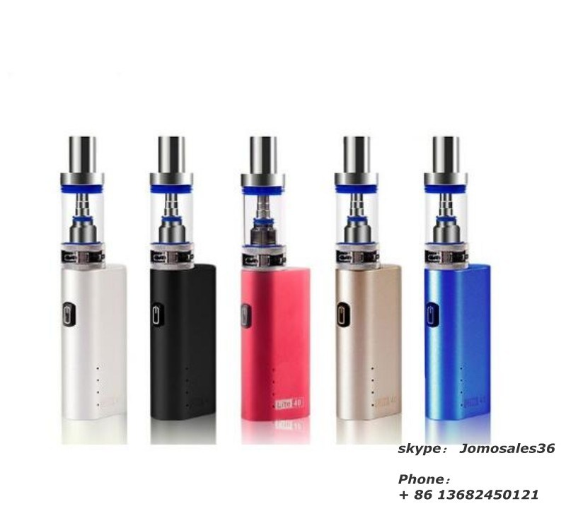 Jomotech Mini Lite 40 Subohm Kit Mechanical Mod Lite 35W Box Mod VW New Electronic Cigarette Kit with 0.5ohm 35W Tank