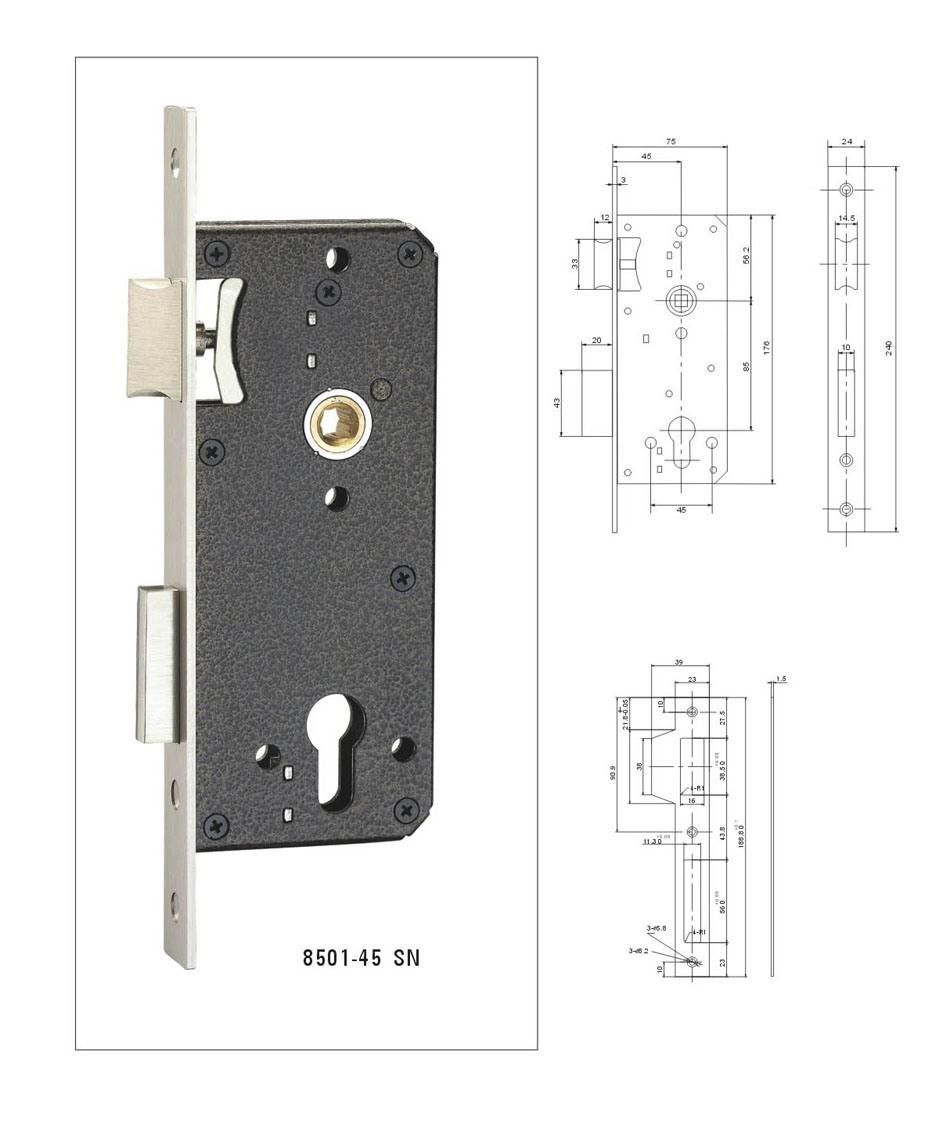 High Quality Mortise Door Lock Body, High Security Door Lock