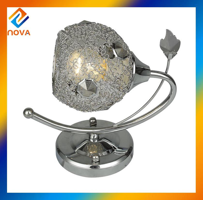 Vintage Iron Bracket Light Crystal Wall Lamp