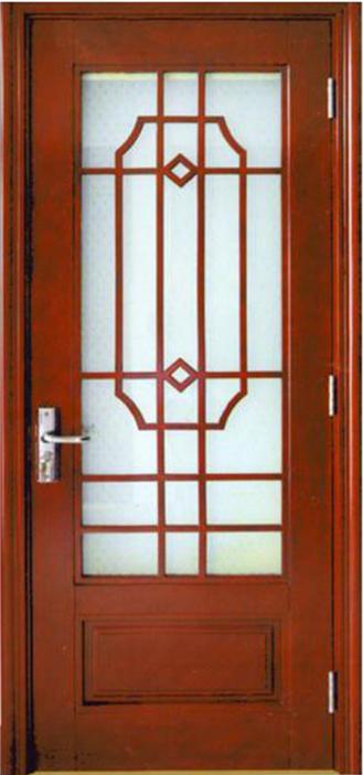 Glass Door, French Door, Morden Design Solid Wooden Door with Glass