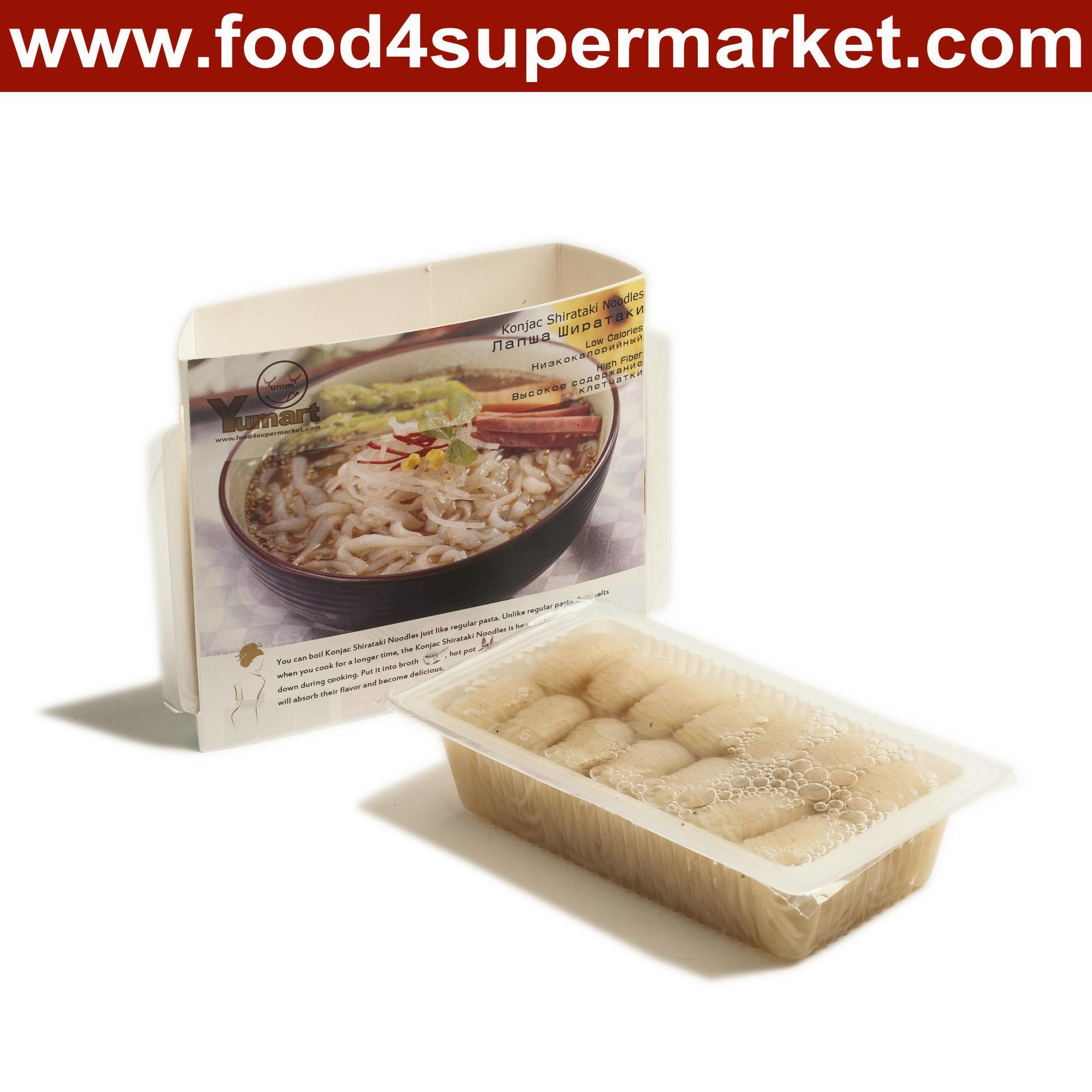 Low Calorie Shirataki Noodles Spaghetti 200g in Plastic Bag Private Label