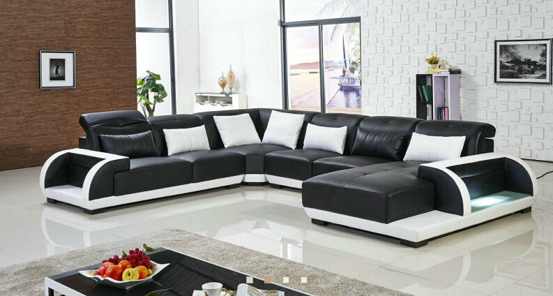 China 2016 Luxury Modern Latest Design Leather Sofa Photos