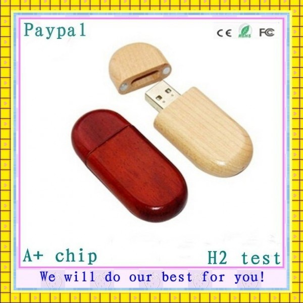 Hot! Factory Price Wooden USB Disk (GC-676)