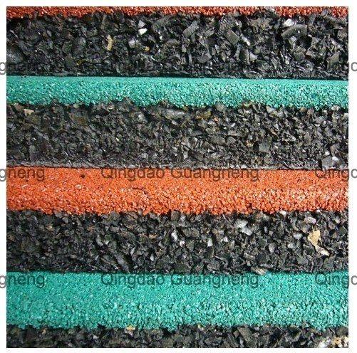 Sports Rubber Flooring Tile Square Rubber Tile Recycle Rubber Mat Playground Rubber Flooring