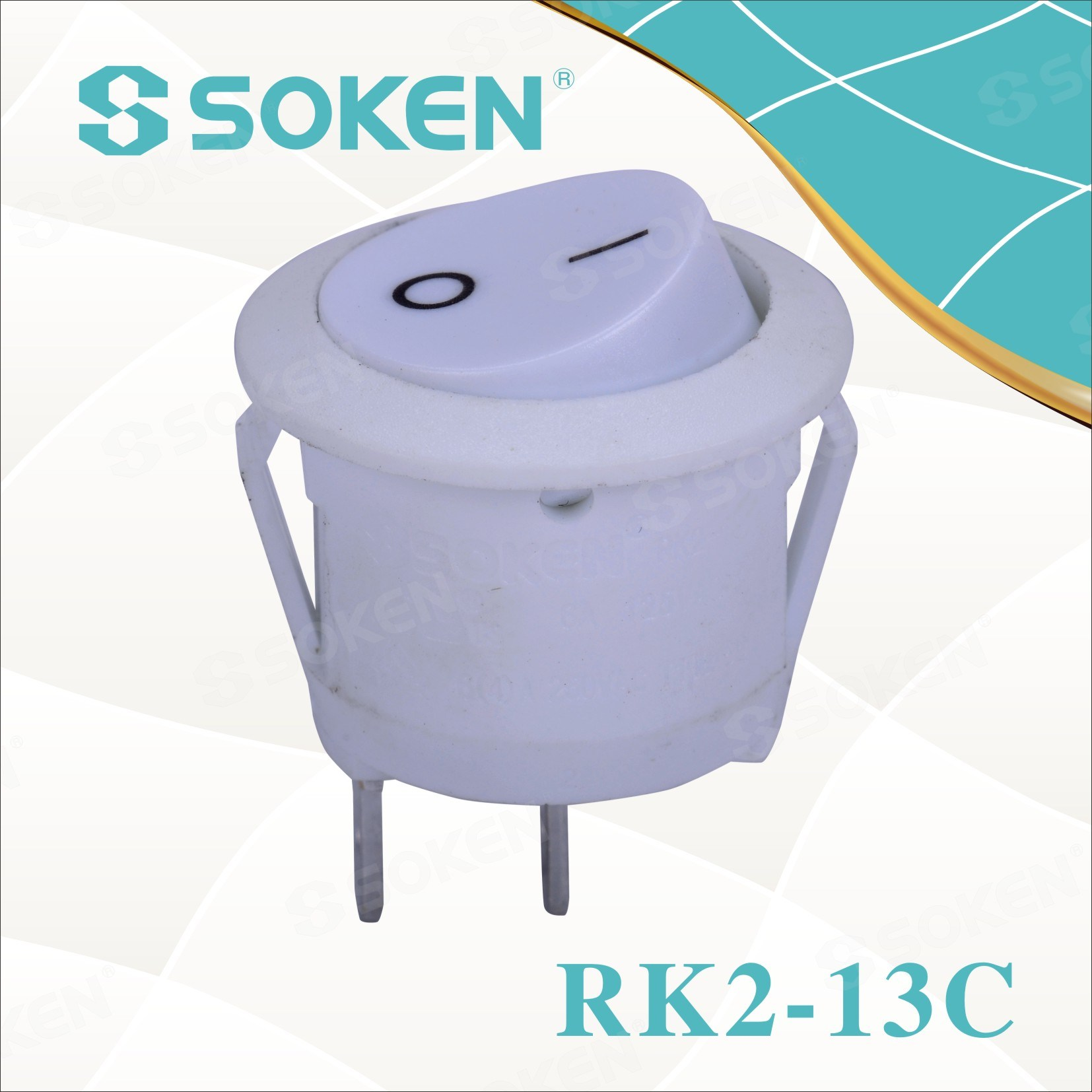 Soken Rk2-13c Round Rocker Switch