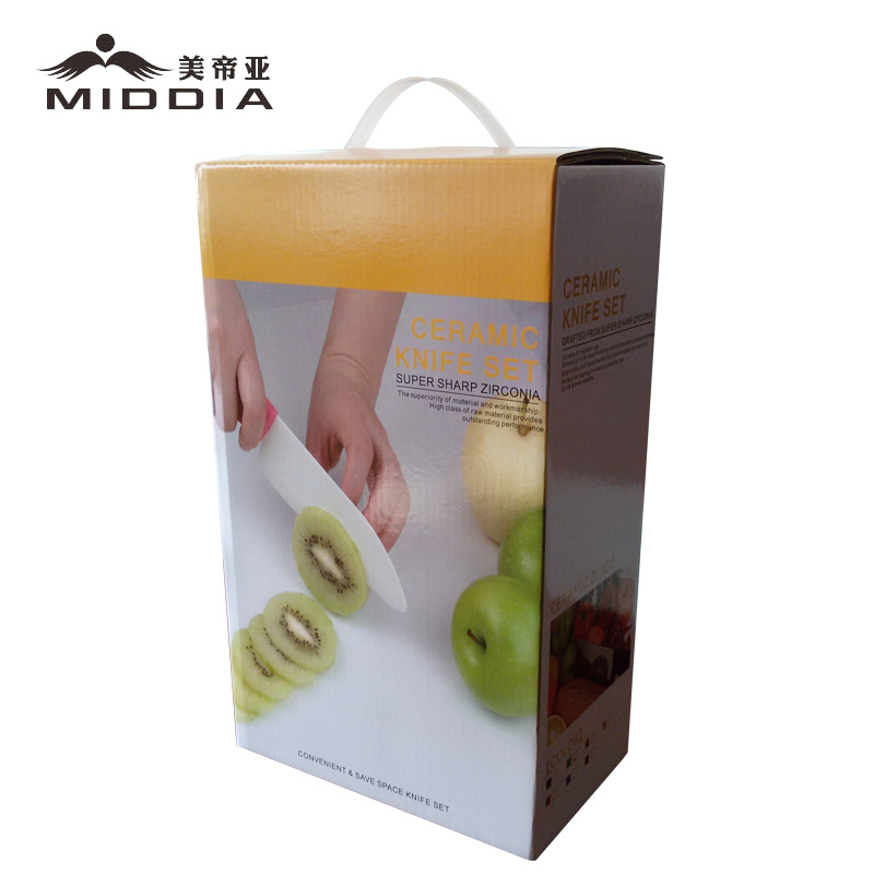 Wholesale 5 Pieces Ceramic Kitchen Knife Set with Holder for Home/Kitchen Product