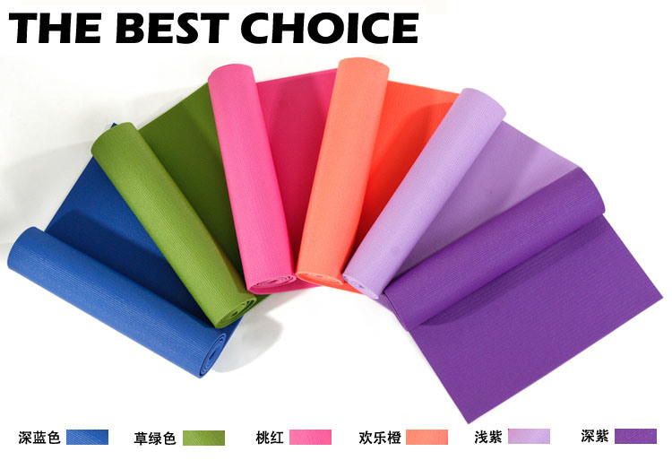 Bodybuilding Health Lose Weight Yoga Pilates Mat Waterproof PVC Foam