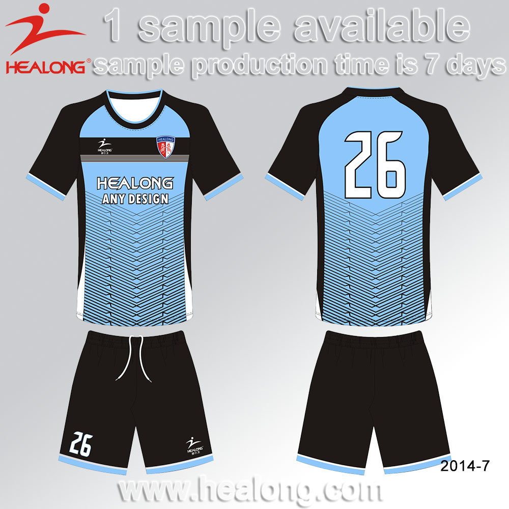 Hot Sales Soccer Uniform Design Blue Custaom Jersey Shirt Soccer Unifrom