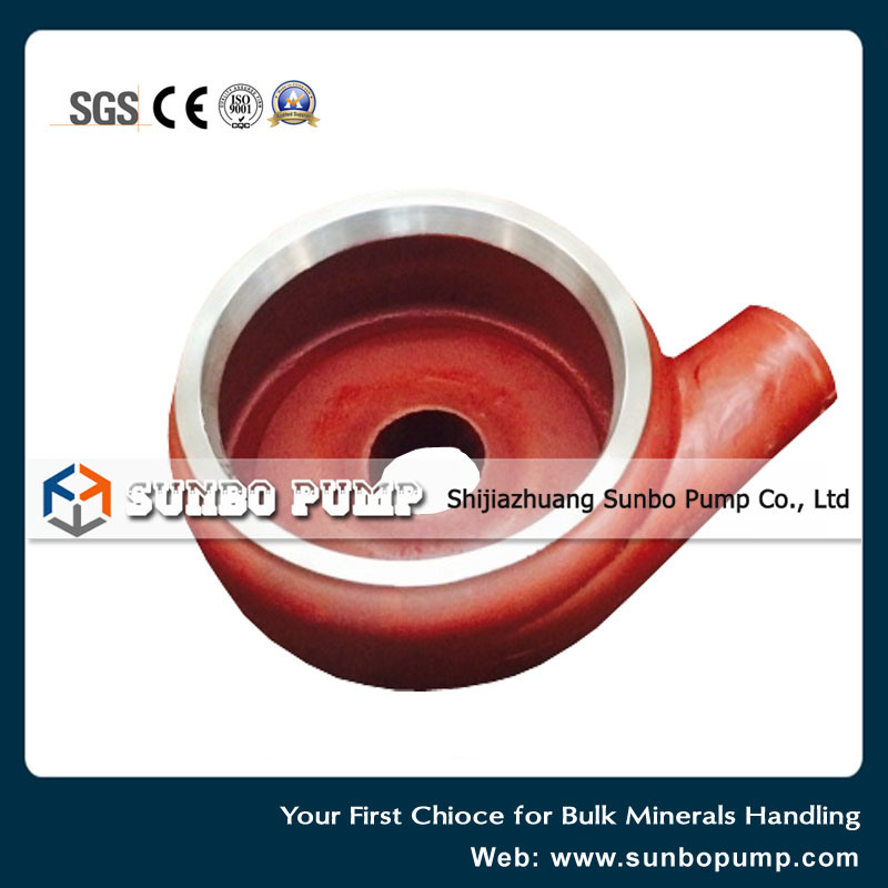 High Chrome Alloy Centrifugal Slurry Pump Part Volute Liner