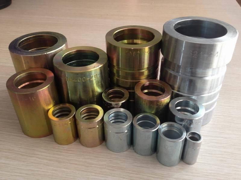 China hydraulic ferrule fitting with zinc plated