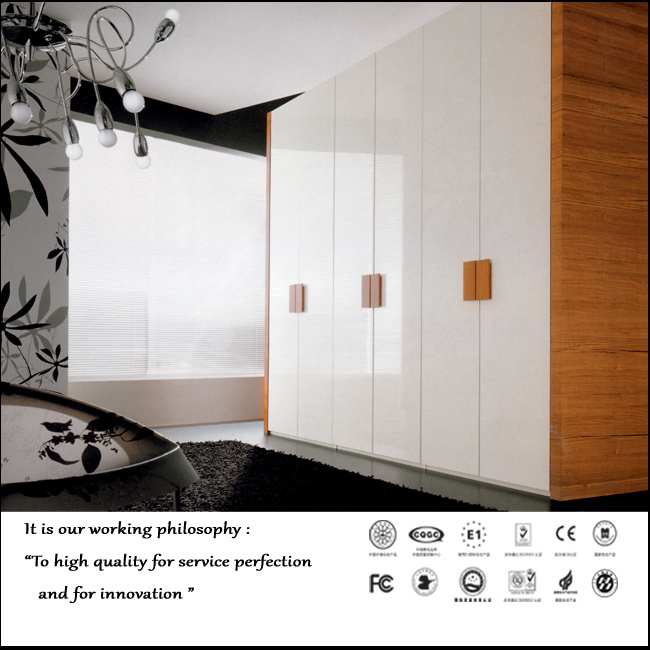 Modern New High Glossy UV Sliding Door Wardrobe (ZH0002)
