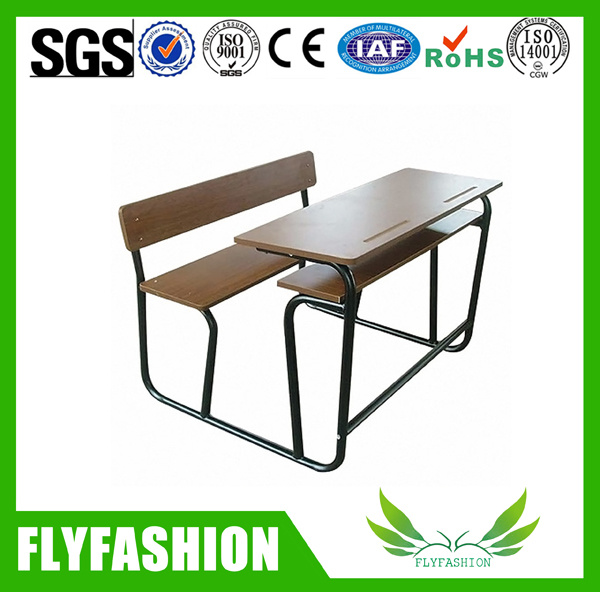 Detachable Wood Double School Desk and Chair School Furniture for Sale