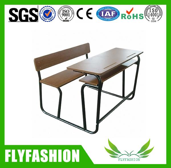 Detachable Wood Double School Desk and Chair School Furniture