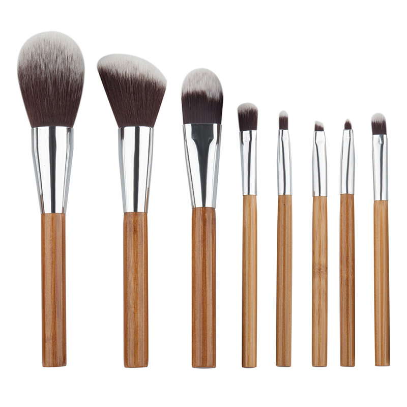Lowest Price Bamboo Handle 8PCS Makeup Brush