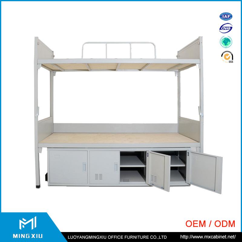 China Mingxiu School Equipment Metal Double Bunk Bed / Steel Bunk Bed