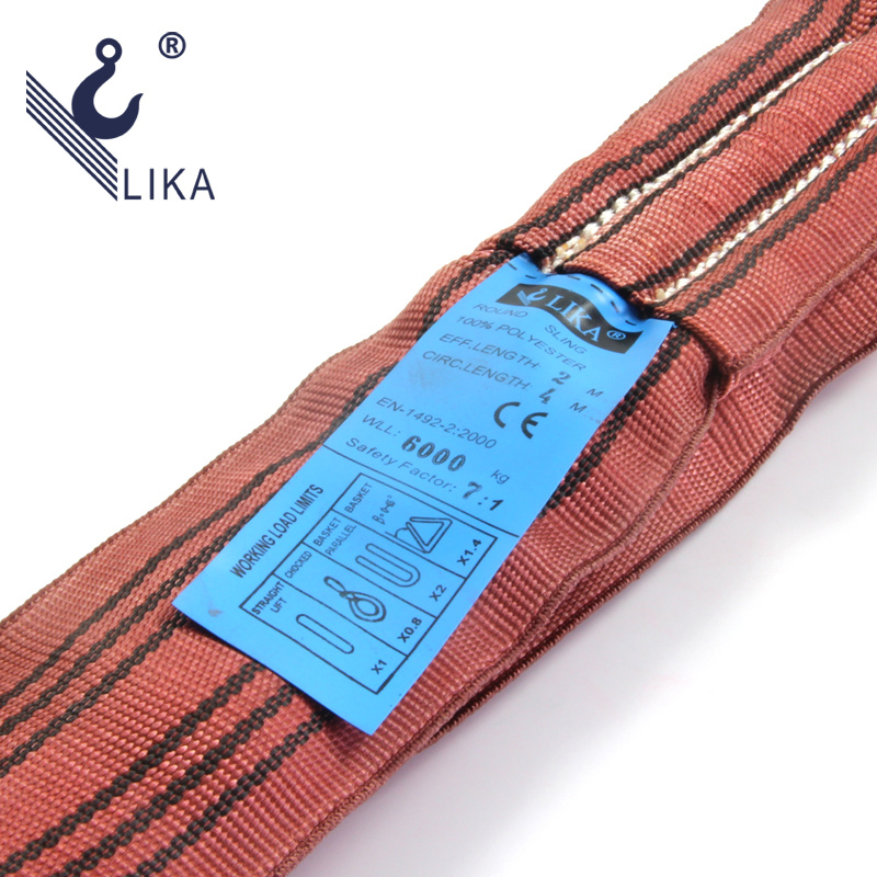 W. L. L. 6t Polyester Endless Round Sling