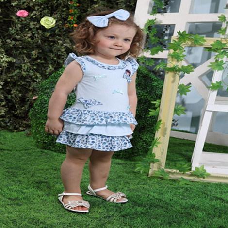 China Pink Nana Print Baby Girl Clothes China Baby Girl