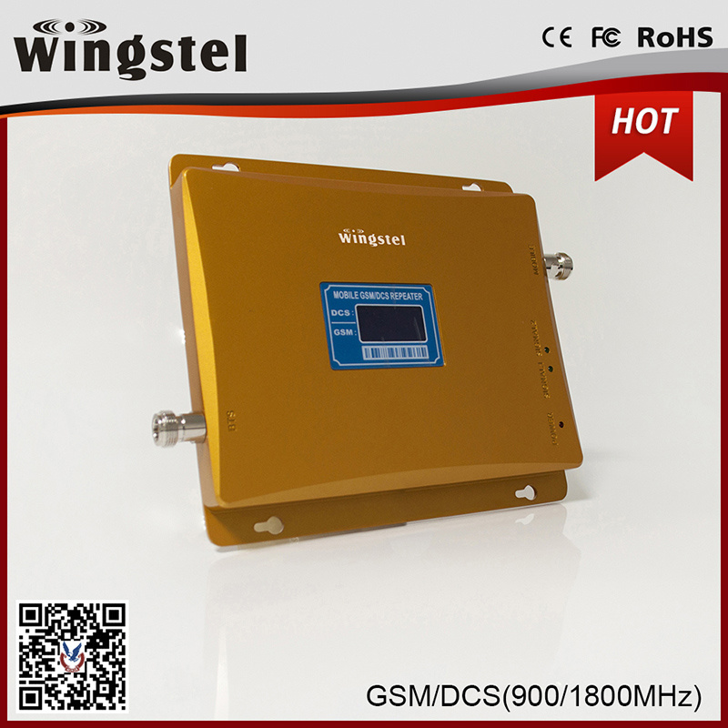 High Quality Dual Band GSM/Dcs 900/1800MHz Mobile Signal Booster with LCD