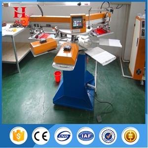 2 Color Automatic Shirt Silk Screen Printing Machine