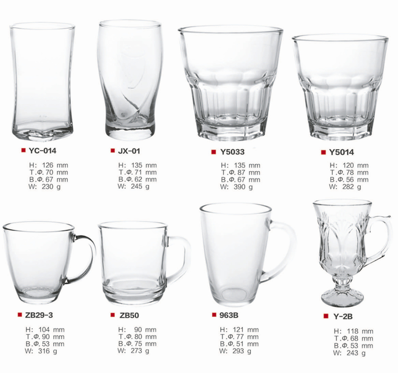 Glassware / Mug / Tumbler / Beer Glass / Drinking Glass