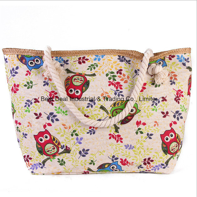 New Female Shoulder Bag Ladies Printing Large Canvas Beach Bag