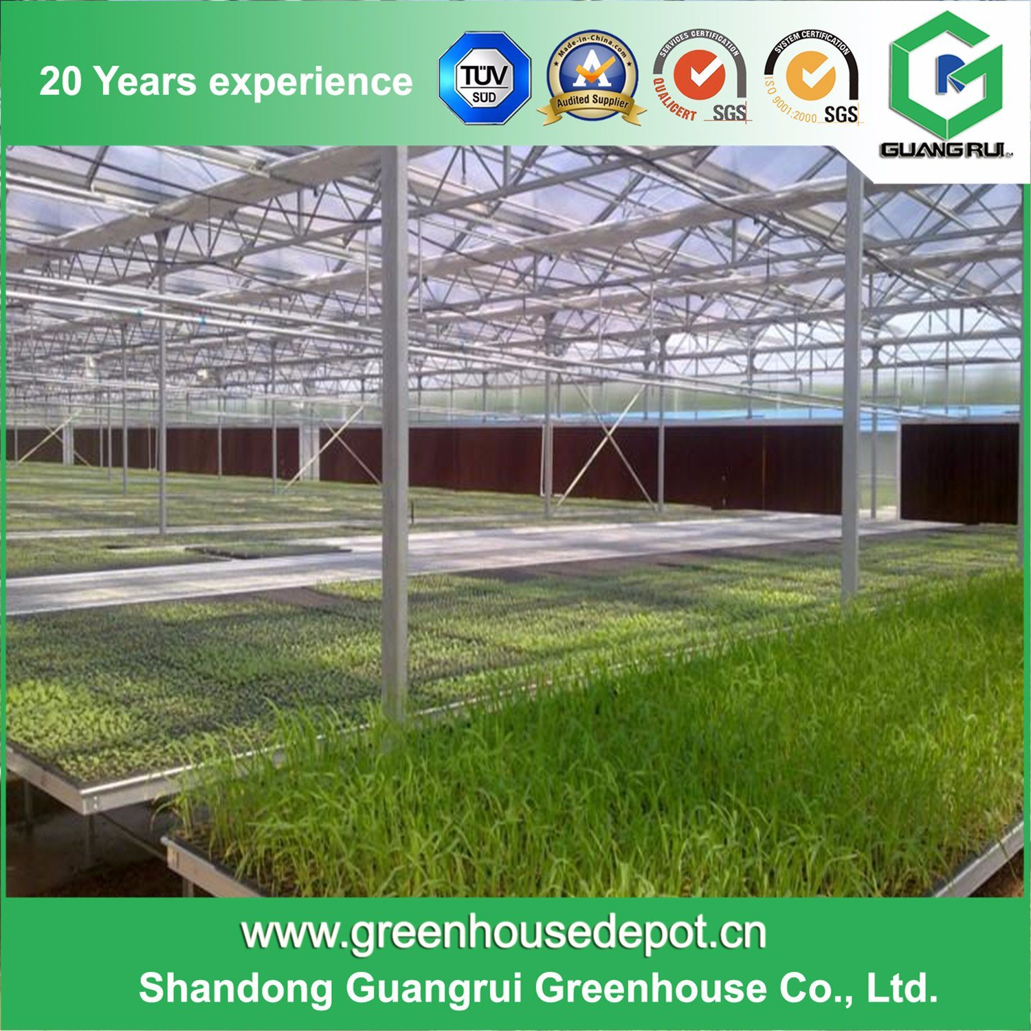 Top PC Board Facade Glass Greenhouse Sheet Green House on Sale