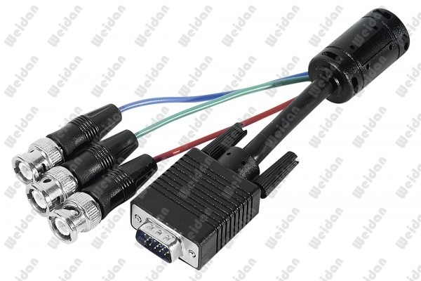 6FT Premium RGB Video Cable HD15 VGA to 5 BNC RGB Video Cable