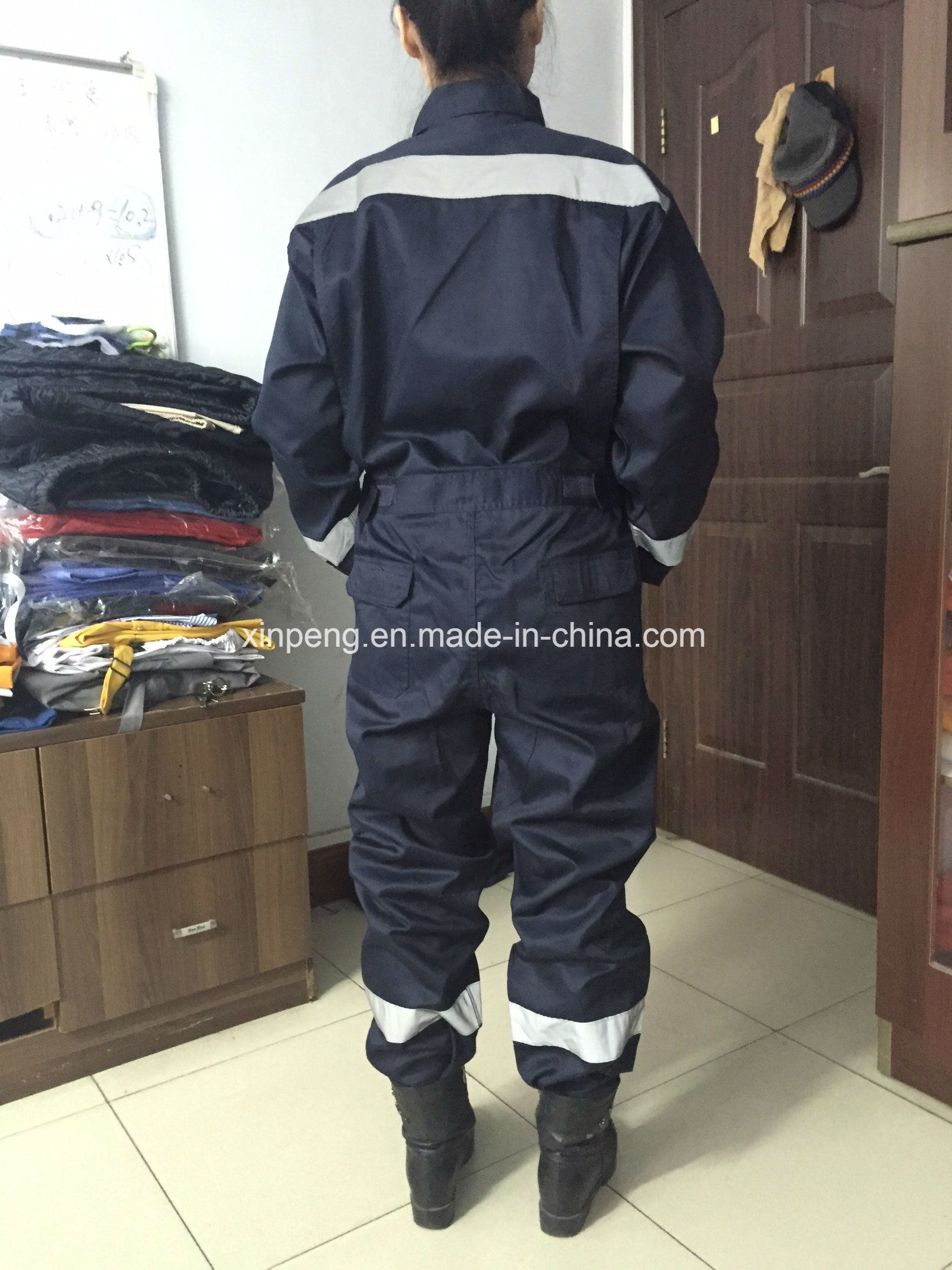 Safety Coverall with Reflective Tapes and Mesh