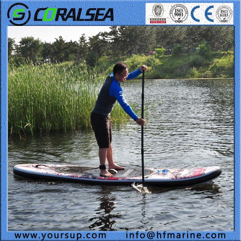 """PVC/EVA Material Drop Stitch Stand up Inflatable Surfboard (Magic (BW) 8′5"""")"""