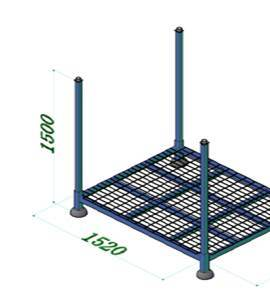 Stackable and Post Removable Frame Racking by Powder Coating