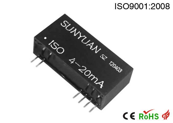 Two-Wires Voltage Outputs 4-20mA Current Loop Signal Amplifier