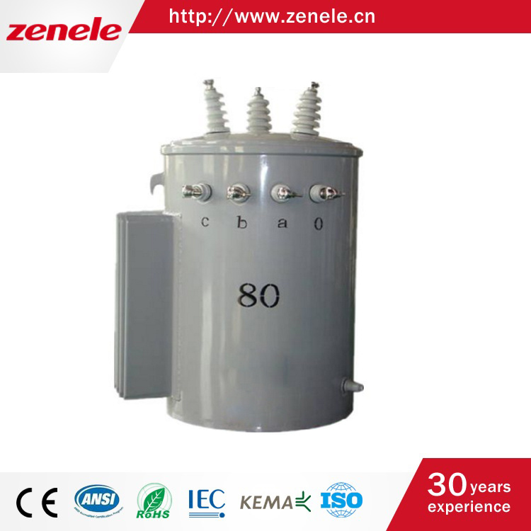 11kv Single Phase Oil-Immersed Pole Mounted Transformer with Good Price