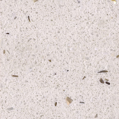 Glass Shinning White Crystal Artificial Stone Quartz Stone for Counter Tops