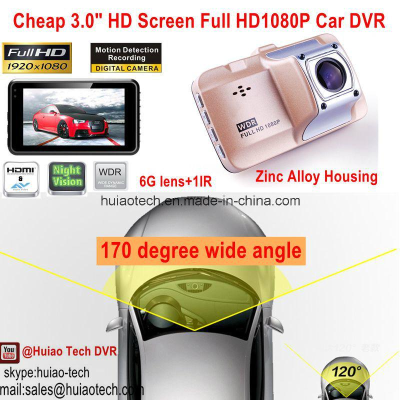 Hot Sale 3.0inch Full HD1080p Car Black Box with Novatek Ntk96650 Chipset, 5.0mega Car Camera, HDMI, 170dgree View Angle Car DVR-3015