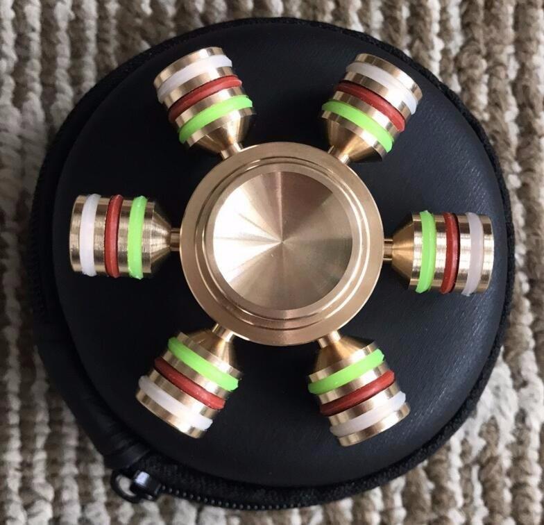 Wholesale Six Sides Fidget Spinner Toy Copper Metal Fidget