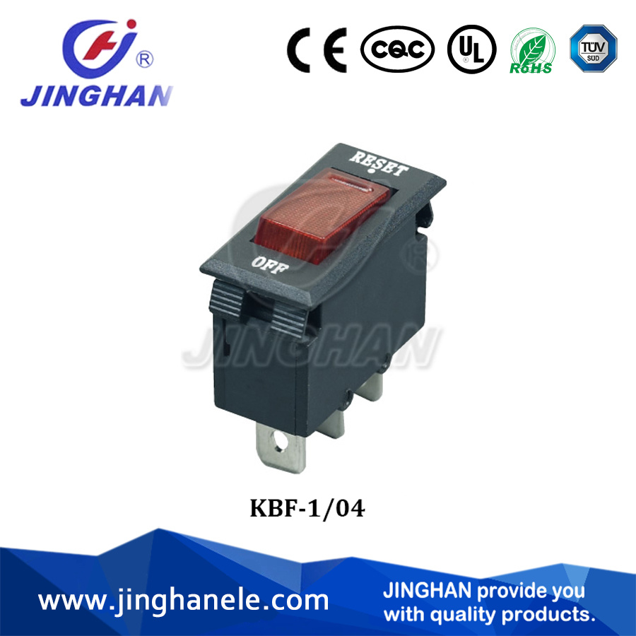 Jinghan Kbf-104 Black/White DC Mini Circuit Breaker Switch