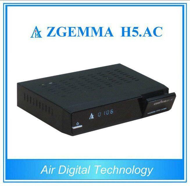 Cananda/Mexico/America Channels Digital Satellite TV Receiver Box DVB-S2+ATSC Hevc/H. 265 Twin Tuners Zgemma H5. AC