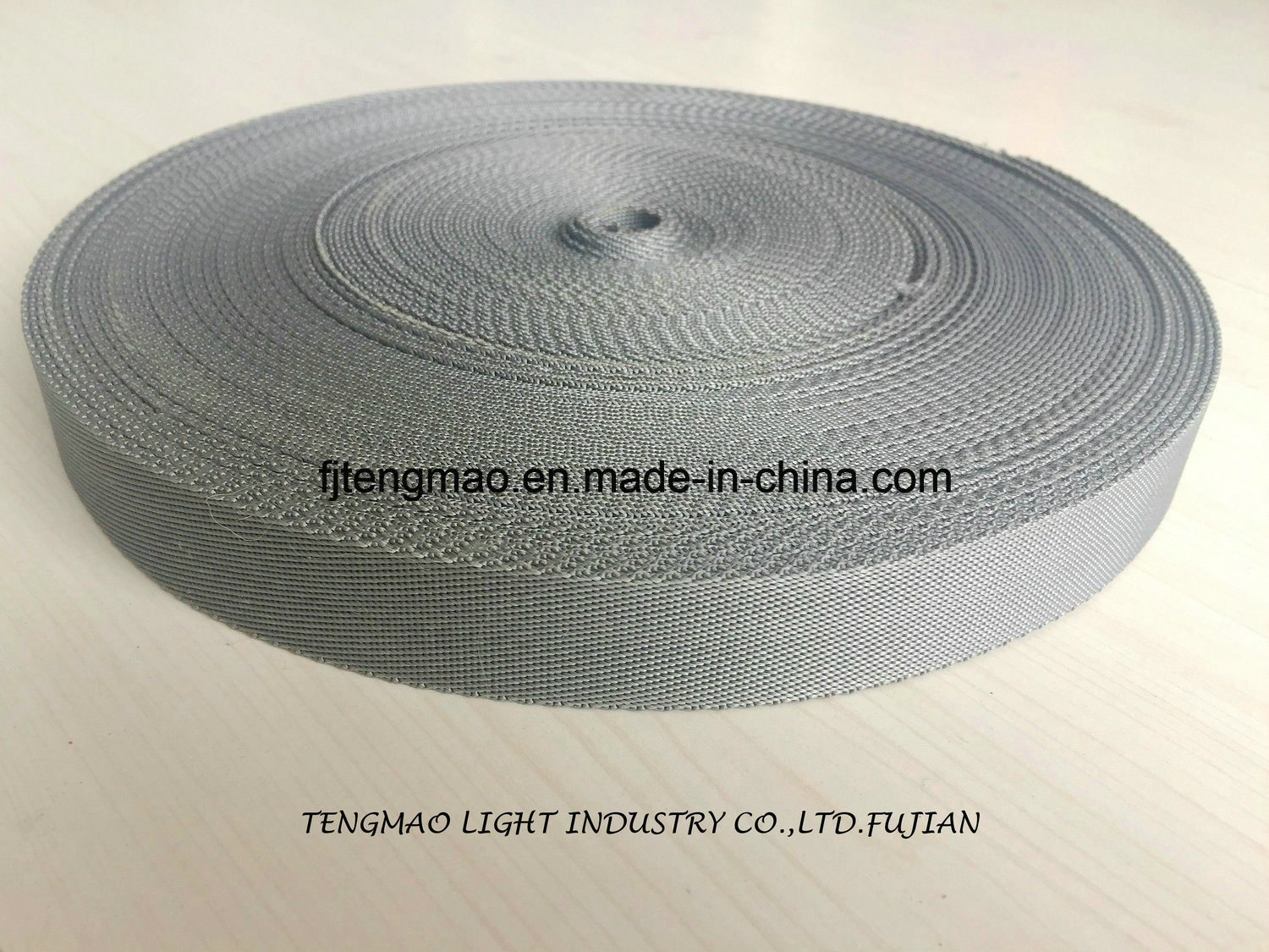 "450d 1"" Grey Polypropylene Webbing for Bags"