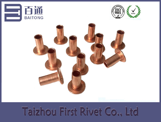 4.2X9mm Copper Plated Flat Head Full Tubular Steel Rivet