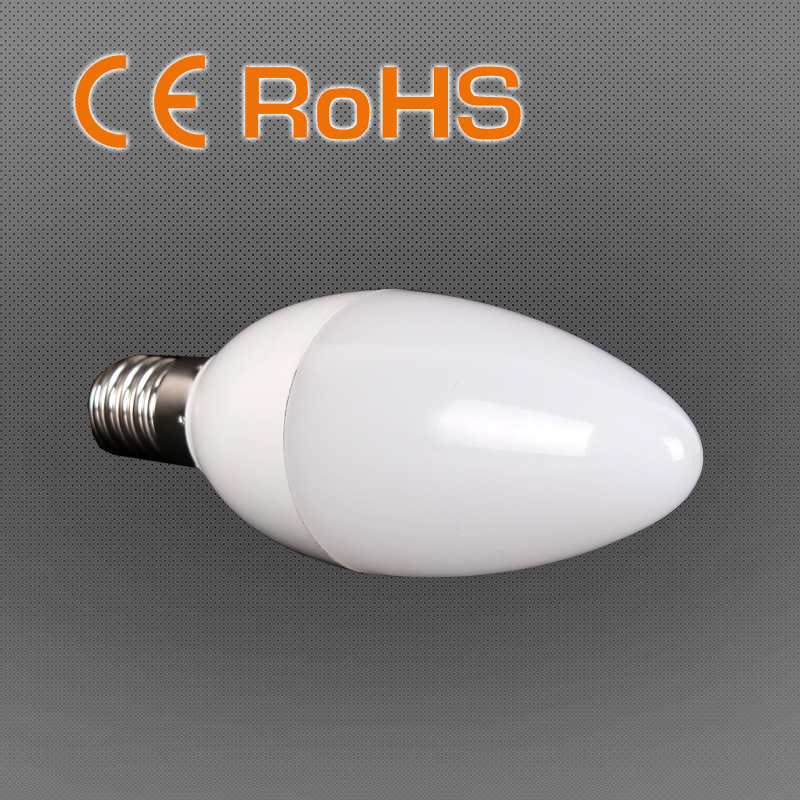 High Lumen Efficacy LED Candle Bulb with 3 Years Warranty