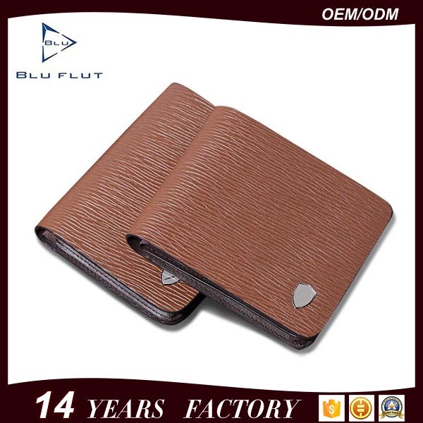 Men′s Formal Business Wear Genuine Embossed Leather Card Holder Wallet