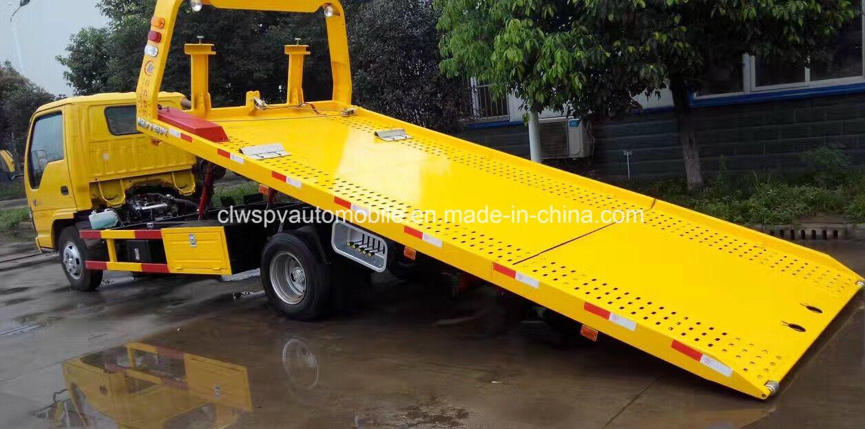 Isuzu 3 Tons Wrecker LHD/Rhd Flat Towing Truck