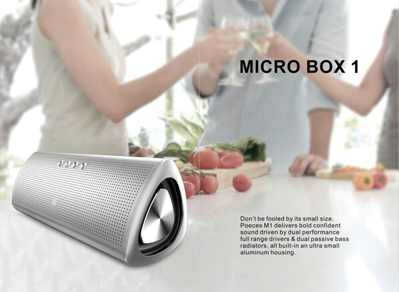 New Multimedia Aluminium Mini Portable Bluetooth Wireless Speaker