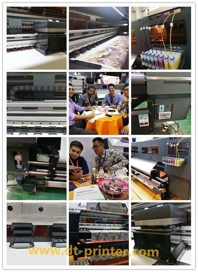 with 4PCS Epson Head Large Format Sublimation Inkjet Printer