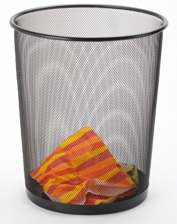 Home Office Organization Supplies/ Metal Home Organization Waste Bin
