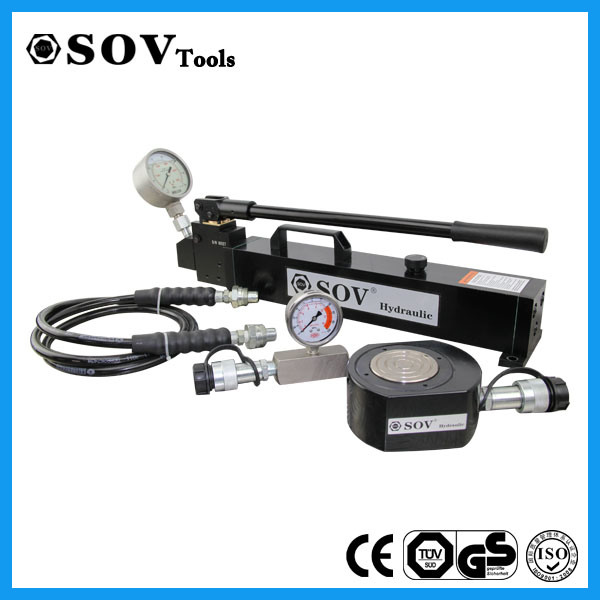 700 Bar Single Acting Flat Hydraulic Cylinder with Solid Steel