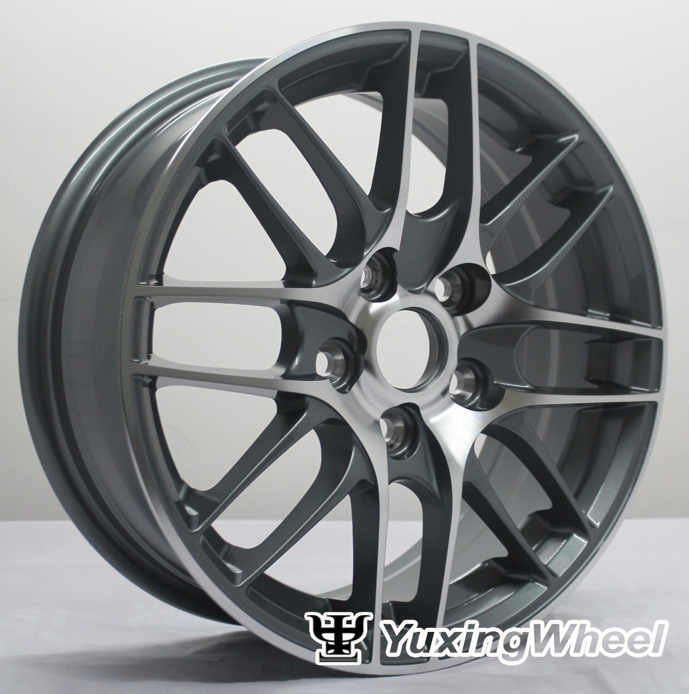 Matt Black Alloy Wheel Car Parts 15 Inch with ISO/Ts 16949: 2009