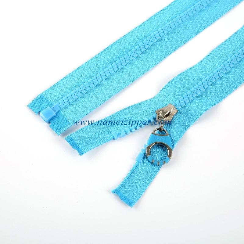 No. 5 Plastic Zipper Open End Auto Lock Slider Injected Plastic Puller
