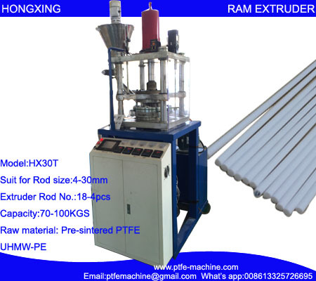 Automatic Vertical PTFE Rod RAM Extrusion Machine (HX-30L)