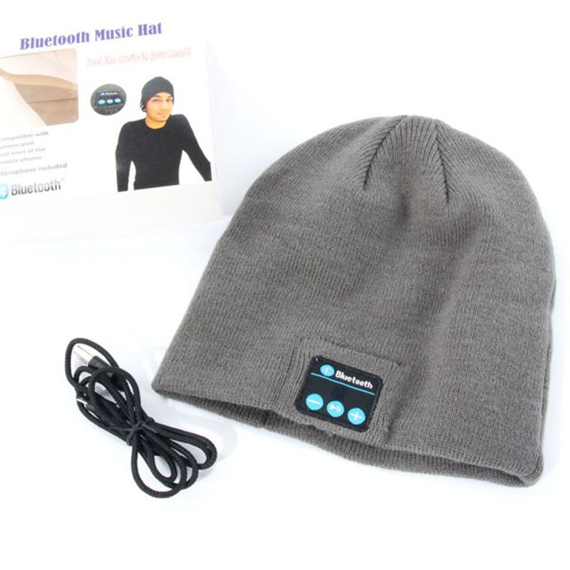 Warm Beanie Wireless Bluetooth hat Smart Cap with Headphone Headset Speaker